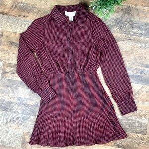 Anthropologie Coincidence Plaid Dress Size Small